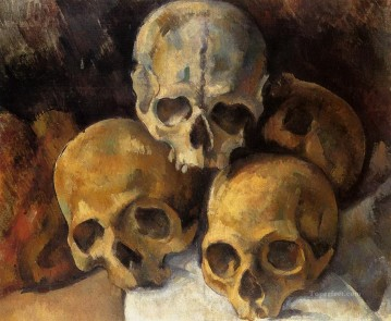 Pyramid of skulls Paul Cezanne Oil Paintings