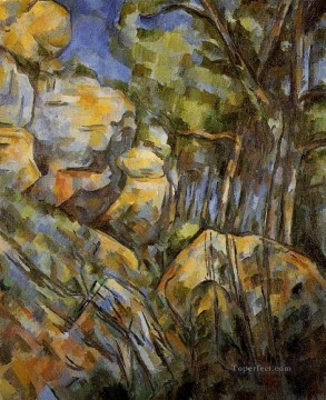 vagabonds resting in a cave Painting - Rocks near the Caves below the Chateau Noir Paul Cezanne