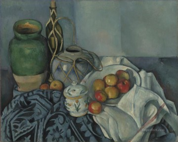 Apples Art - Still Life with Apples 1894 Paul Cezanne