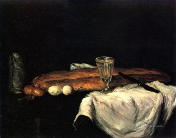 Eggs Art - Still Life with Bread and Eggs Paul Cezanne