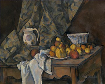 Cezanne Art Painting - Still Life with Flower Holder Paul Cezanne