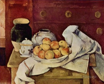 Paul Cezanne Painting - Still Life with a Chest of Drawers 1887 Paul Cezanne