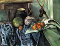 Still Life with a Ginger Jar and Eggplants Paul Cezanne
