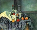 Still life peppermint bottle Paul Cezanne