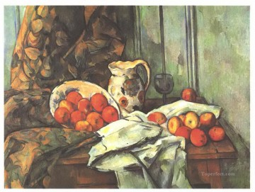 Paul Cezanne Painting - Still life with jug Paul Cezanne