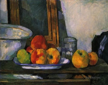 Paul Cezanne Painting - Still life with open drawer Paul Cezanne