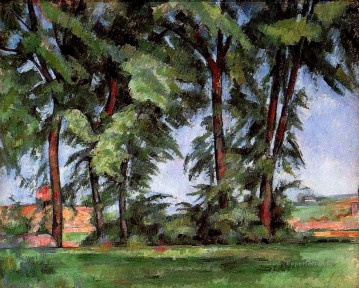 Tall Trees at the Jas de Bouffan Paul Cezanne Oil Paintings