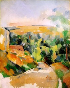 Paul Cezanne Painting - The Bend in the road Paul Cezanne