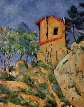 The House with Cracked Walls Paul Cezanne Oil Paintings