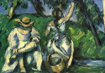 The Obstpfluckerin Paul Cezanne Oil Paintings