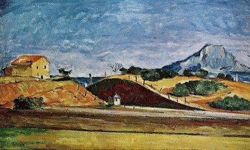 Paul Cezanne Painting - The Railway Cutting Paul Cezanne