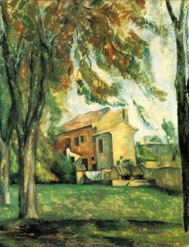 The pond of the Jas de Bouffan Paul Cezanne Oil Paintings