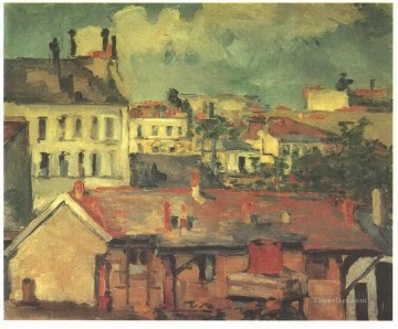 The roofs Paul Cezanne Oil Paintings