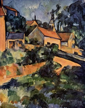Road Oil Painting - Turning Road at Montgeroult Paul Cezanne