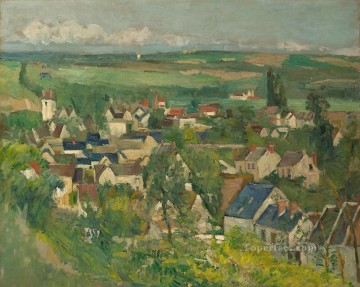 View of Auvers Paul Cezanne Oil Paintings