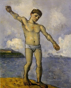 Bather with Outstreched Arms Paul Cezanne Oil Paintings