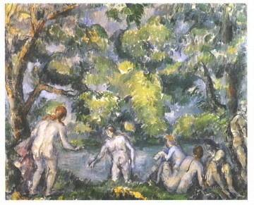 Bath Painting - Bathers Paul Cezanne