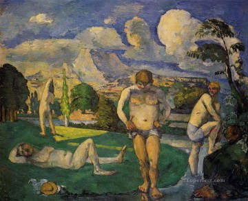 Bather Art - Bathers at Rest 1877 Paul Cezanne