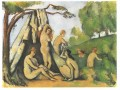 Bathers in front of a tend Paul Cezanne