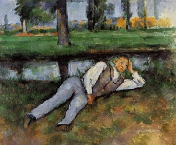 Rest Painting - Boy Resting Paul Cezanne