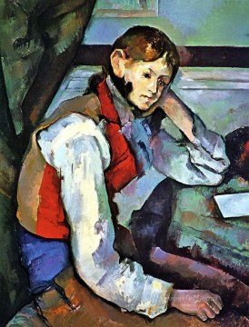 Cezanne Art Painting - Boy in a Red Vest 2 Paul Cezanne