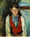 Boy in a Red Vest 4 Paul Cezanne