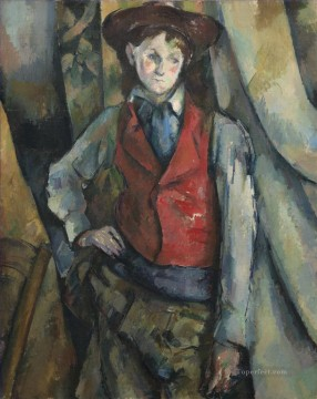 Paul Cezanne Painting - Boy in a Red Vest Paul Cezanne
