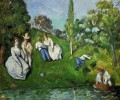 Couples Relaxing by a Pond Paul Cezanne