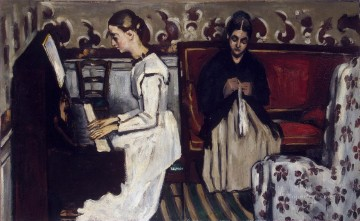 Girl at the Piano Paul Cezanne Oil Paintings