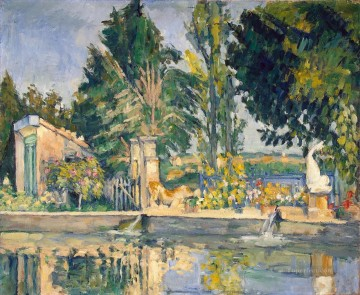 Paul Cezanne Painting - Jas de Bouffan the pool Paul Cezanne