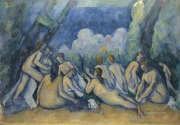 Bath Painting - Large Bathers 1900 Paul Cezanne