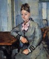 Madame Cezanne Leaning on a Table Paul Cezanne
