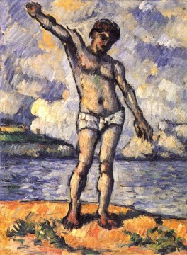 Man Standing Arms Extended Paul Cezanne Oil Paintings