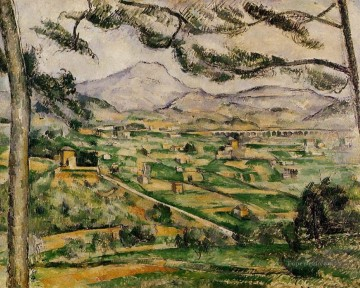 Sainte Painting - Mont Sainte Victoire with Large Pine Paul Cezanne