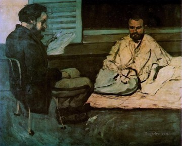 Paul Cezanne Painting - Paul Alexis Reading a Manuscript to Emile Zola Paul Cezanne