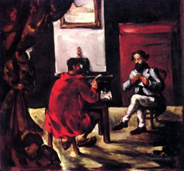 Paul Alexis Reading at Zola House Paul Cezanne Oil Paintings