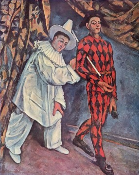 Pierrot and Harlequin Mardi Gras Paul Cezanne Oil Paintings