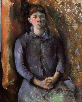 Paul Cezanne Painting - Portrait of Madame Cezanne Paul Cezanne