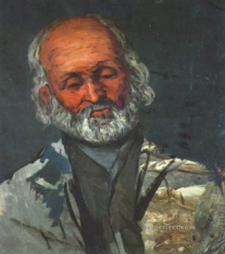 Paul Cezanne Painting - Portrait of an old man Paul Cezanne