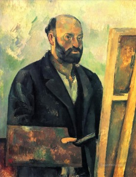Paul Cezanne Painting - Self Portrait with Palette Paul Cezanne