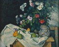Still Life with Flowers and Fruit Paul Cezanne