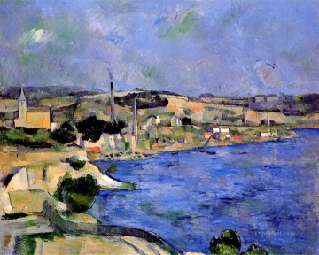 Paul Cezanne Painting - The Bay of lEstaque and Saint Henri Paul Cezanne