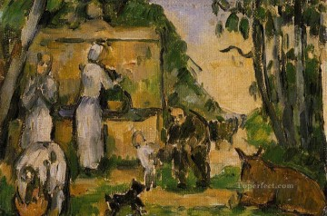 The Fountain Paul Cezanne Oil Paintings