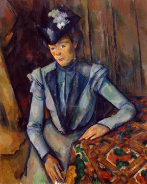 Woman in Blue Madame Cezanne Paul Cezanne Oil Paintings