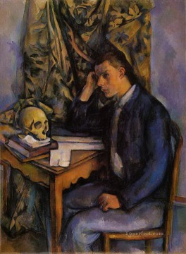 Young Man and Skull Paul Cezanne Oil Paintings