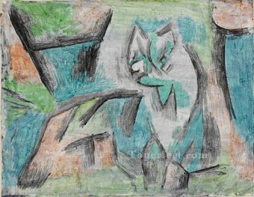 Klee Oil Painting - A kind of cat Paul Klee