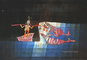 Klee Oil Painting - Battle scene from the comic fantastic opera Paul Klee