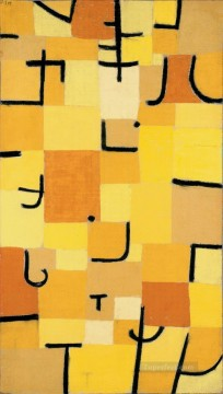 Paul Klee Painting - Characters in yellow Paul Klee