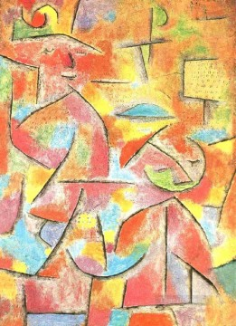 Child and aunt Paul Klee Oil Paintings