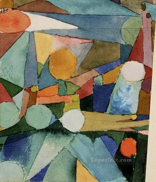 Klee Oil Painting - Colour Shapes Paul Klee